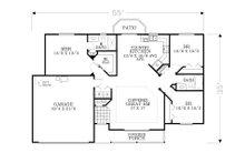 Craftsman Floor Plan - Main Floor Plan Plan #53-598