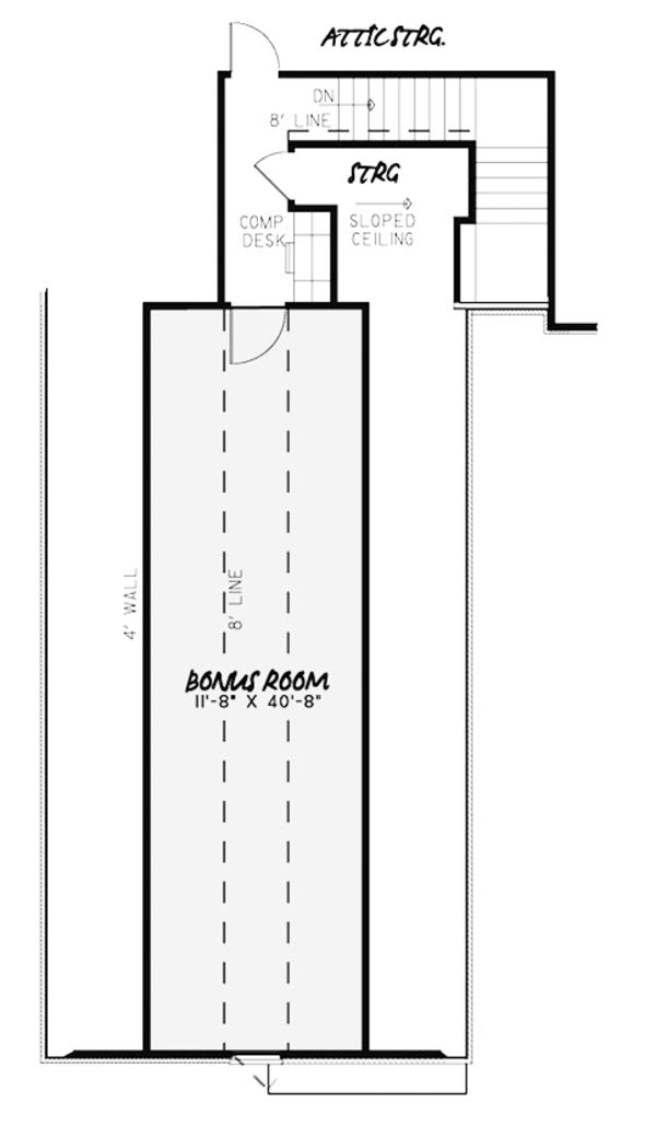 Country Floor Plan - Other Floor Plan Plan #17-3378
