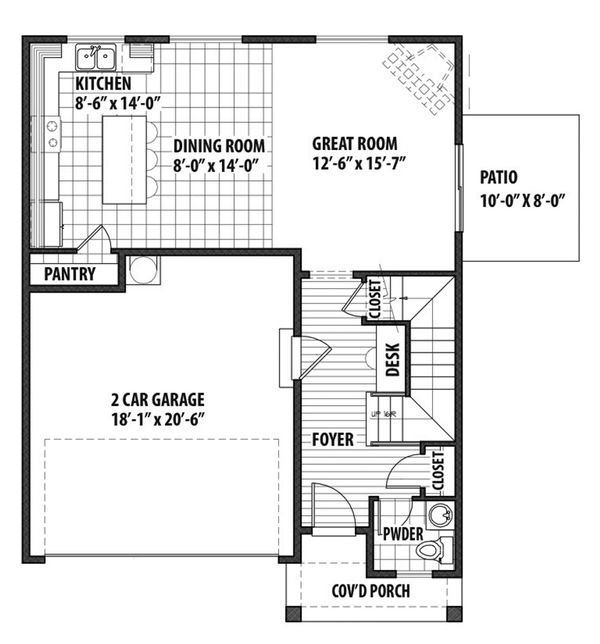Country Floor Plan - Main Floor Plan Plan #569-33