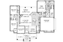 Tudor Floor Plan - Main Floor Plan Plan #45-372