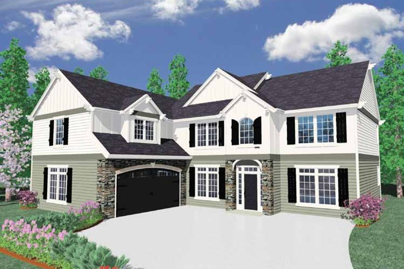 Country Exterior - Front Elevation Plan #509-364 - Houseplans.com