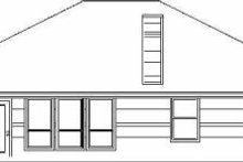 House Plan Design - Traditional Exterior - Rear Elevation Plan #84-122