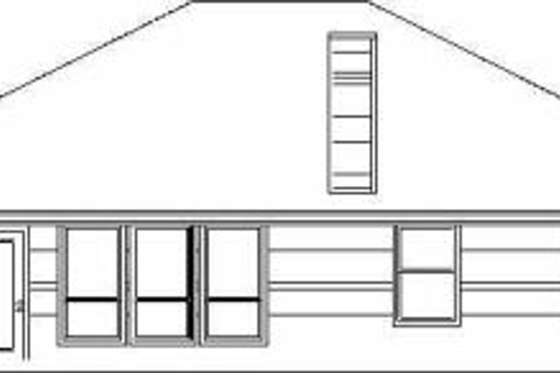 Traditional Exterior - Rear Elevation Plan #84-122 - Houseplans.com