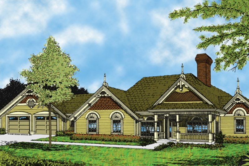 Home Plan - Victorian Exterior - Front Elevation Plan #417-464