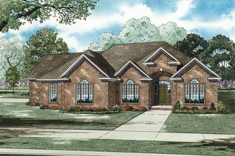Traditional Exterior - Front Elevation Plan #17-3274 - Houseplans.com