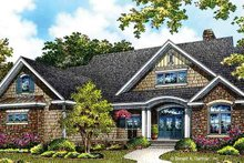 Dream House Plan - European Exterior - Front Elevation Plan #929-967