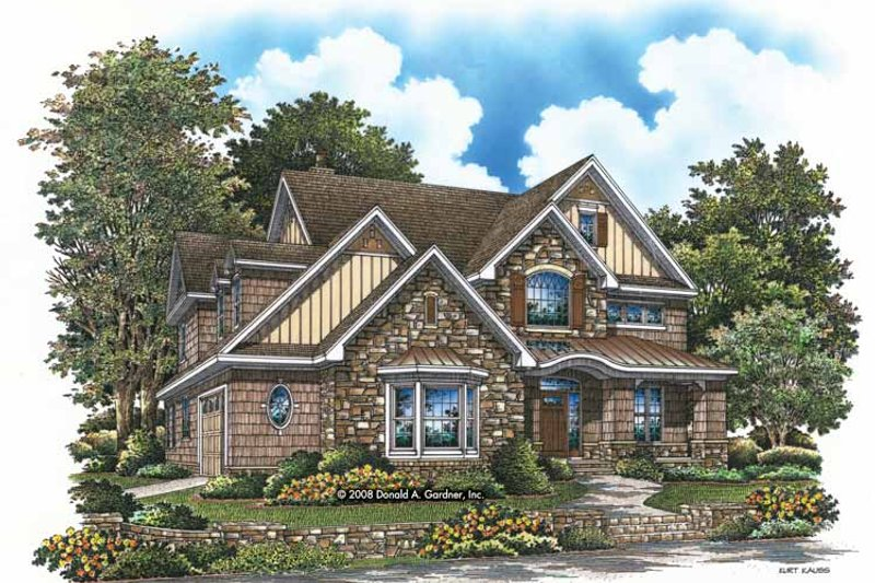 Architectural House Design - Craftsman Exterior - Front Elevation Plan #929-832