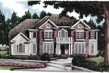 House Design - Colonial Exterior - Front Elevation Plan #927-612