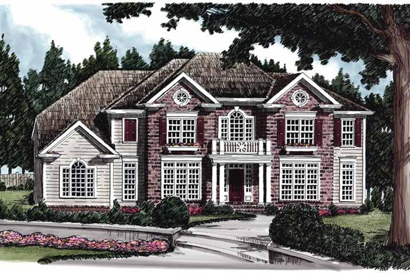 Colonial Exterior - Front Elevation Plan #927-612