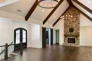 Craftsman Style House Plan - 4 Beds 3.5 Baths 4147 Sq/Ft Plan #437-115 Interior - Family Room