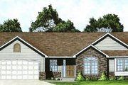 Ranch Style House Plan - 3 Beds 2 Baths 1221 Sq/Ft Plan #58-186 Exterior - Front Elevation