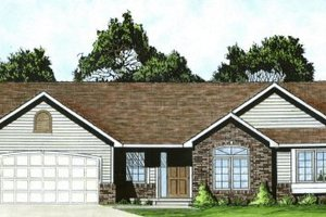 Ranch Exterior - Front Elevation Plan #58-186