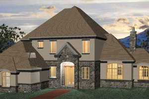 Country Exterior - Front Elevation Plan #937-3