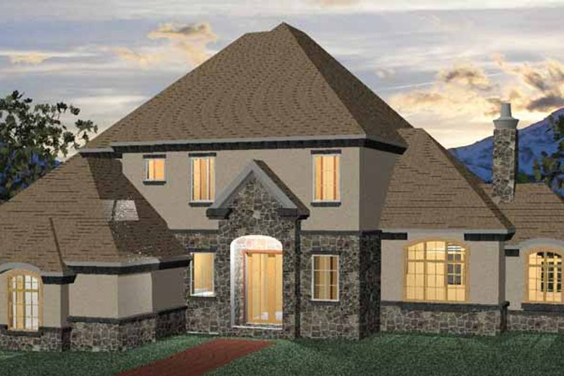Country Exterior - Front Elevation Plan #937-3 - Houseplans.com