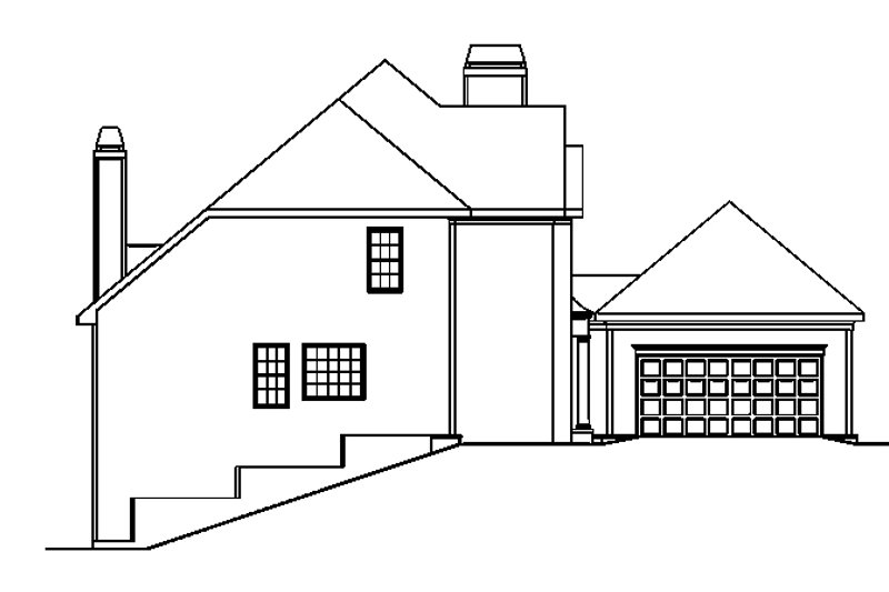 Traditional Exterior - Other Elevation Plan #927-762 - Houseplans.com