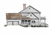 Home Plan Design - Classical Exterior - Other Elevation Plan #429-186