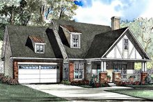 Home Plan - Tudor Exterior - Front Elevation Plan #17-3180