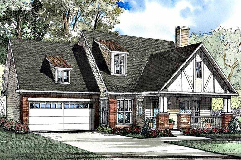 Tudor Exterior - Front Elevation Plan #17-3180 - Houseplans.com