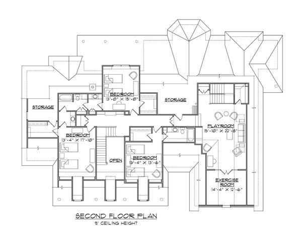 House Plan Design - Country Floor Plan - Upper Floor Plan #1054-65