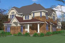 European Exterior - Front Elevation Plan #120-222