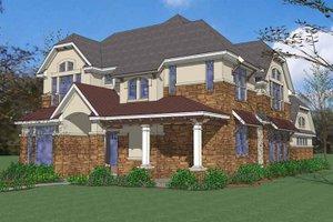 Architectural House Design - European Exterior - Front Elevation Plan #120-222