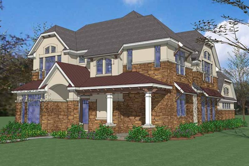 Home Plan - European Exterior - Front Elevation Plan #120-222