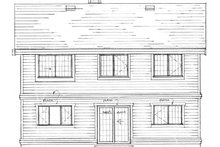 House Blueprint - Craftsman Exterior - Rear Elevation Plan #47-694