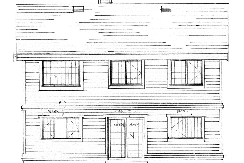 Craftsman Exterior - Rear Elevation Plan #47-694 - Houseplans.com