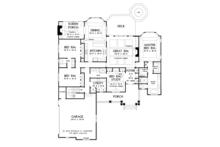 Craftsman Floor Plan - Main Floor Plan Plan #929-949