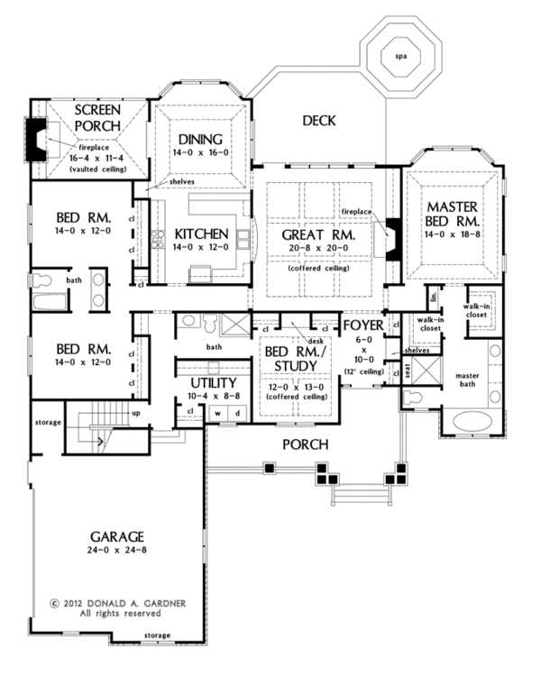 Craftsman Floor Plan - Main Floor Plan Plan #929-949