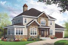 Craftsman Exterior - Front Elevation Plan #23-2707