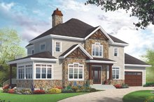 Architectural House Design - Craftsman Exterior - Front Elevation Plan #23-2707