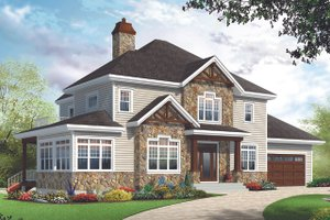 Craftsman Exterior - Front Elevation Plan #23-2707