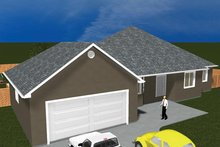 Ranch Exterior - Front Elevation Plan #1060-34