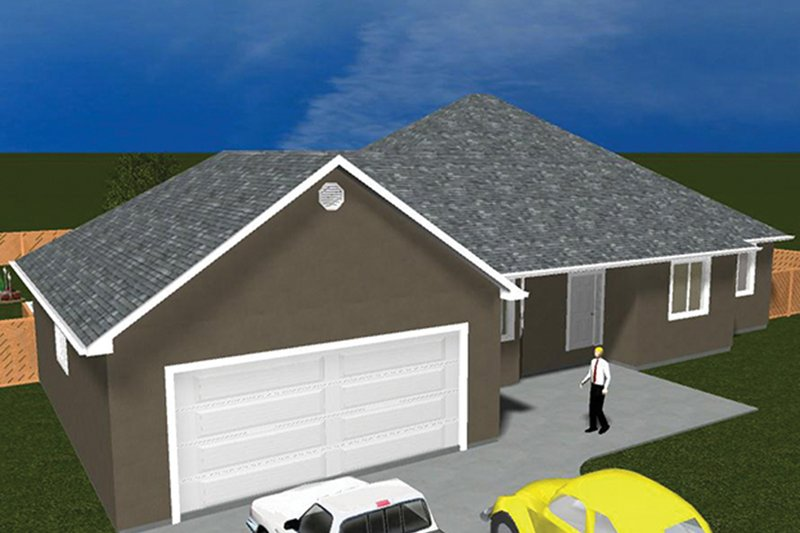 Architectural House Design - Ranch Exterior - Front Elevation Plan #1060-34