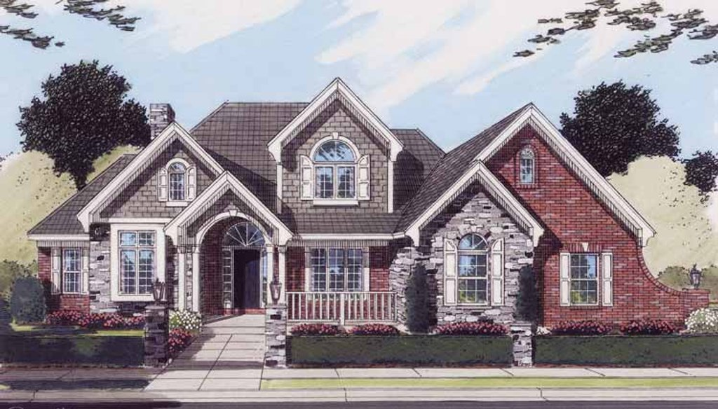 european style house plan 4 beds 3 5 baths 2758 sq ft