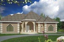 House Plan Design - Mediterranean Exterior - Front Elevation Plan #1061-1