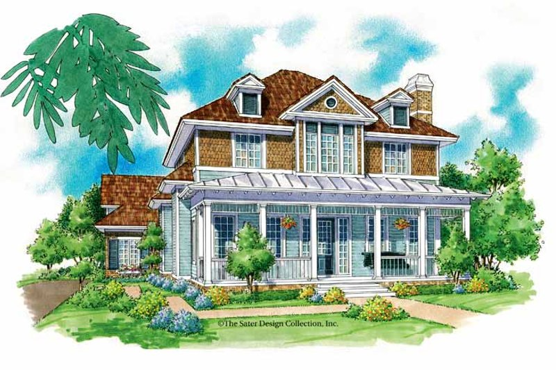Victorian Exterior - Front Elevation Plan #930-212