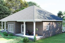 Southern Exterior - Rear Elevation Plan #44-168