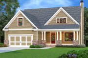 Craftsman Style House Plan - 4 Beds 2.5 Baths 2133 Sq/Ft Plan #419-217 Exterior - Front Elevation