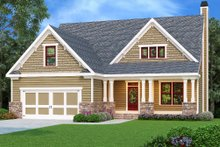 Dream House Plan - Craftsman Exterior - Front Elevation Plan #419-217