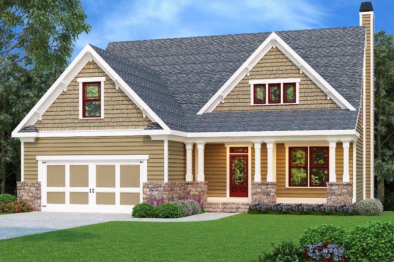 Dream House Plan - Craftsman Exterior - Front Elevation Plan #419-217