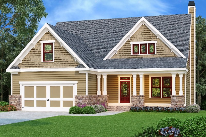Craftsman Exterior - Front Elevation Plan #419-217