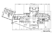 Log Style House Plan - 4 Beds 4.5 Baths 7819 Sq/Ft Plan #451-3 Floor Plan - Main Floor Plan