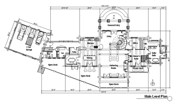 Log Floor Plan - Main Floor Plan #451-3