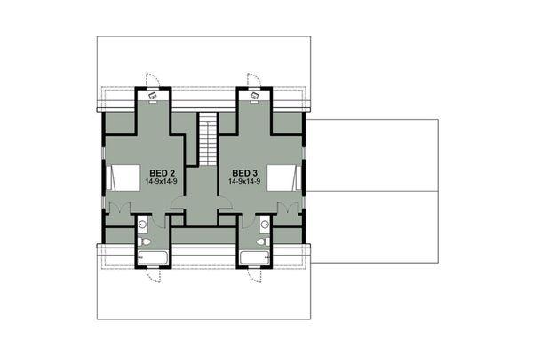 Farmhouse Floor Plan - Upper Floor Plan Plan #497-9