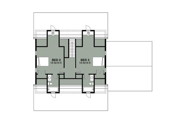 Farmhouse Floor Plan - Upper Floor Plan #497-9