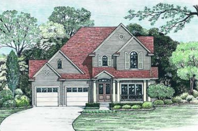 Traditional Exterior - Front Elevation Plan #20-801 - Houseplans.com