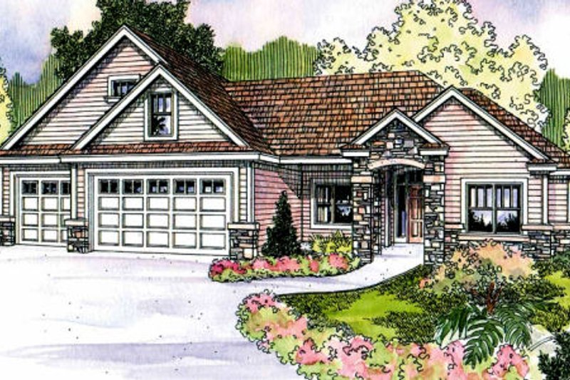 Country Exterior - Front Elevation Plan #124-700
