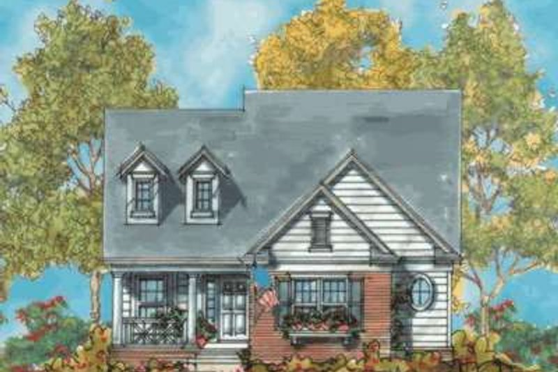Home Plan - Traditional Exterior - Front Elevation Plan #20-1748